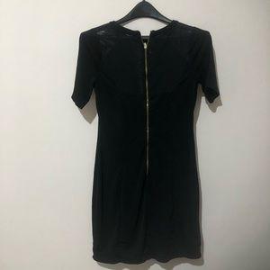 Express mini dress with mesh panels